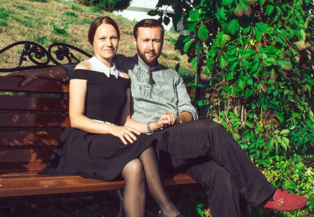 Александр с супругой Валерией