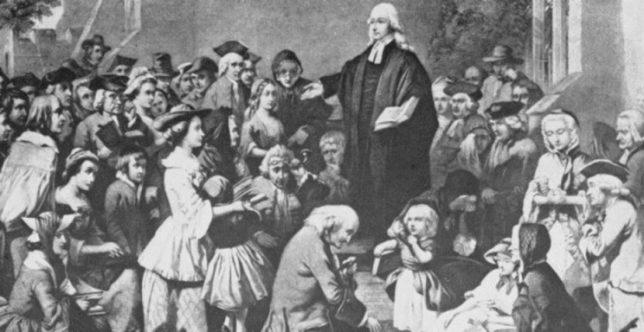 Джон Уэсли проповедует